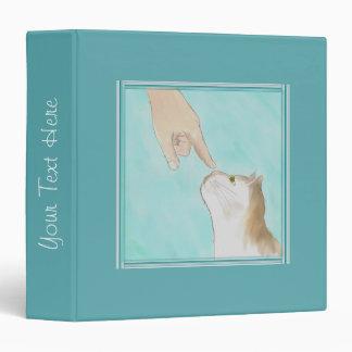 Touching Kitty's Nose Scrapbook Binder