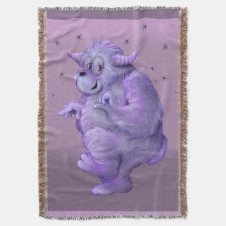 TOUFFIN ALIEN CARTOON Throw Blanket