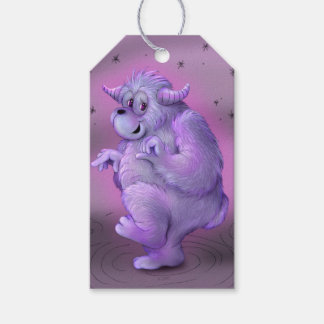 TOUFFIN ALIEN MONSTER CARTOON GIFT TAG MATT