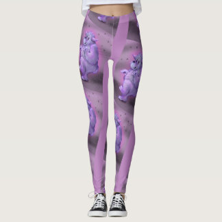TOUFFIN CUTE ALIEN CARTOON Leggings