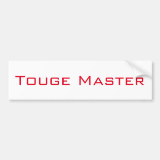 Touge Master Bumper Sticker