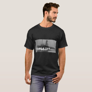 Tough As A Tug Boat Tee T-Shirt Black Basic