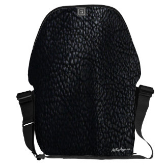 """""""Tough as Leather™ """" (Black/Black w/Black Trim) Messenger Bag"""