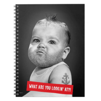 Tough Beared Baby Boy Notebook