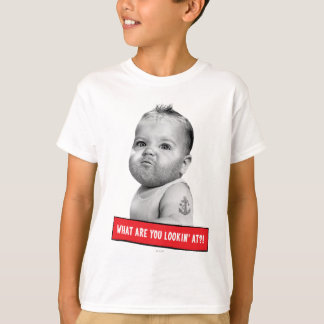 Tough Beared Baby Boy T-Shirt