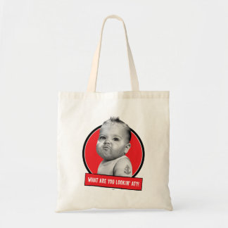 Tough Beared Baby Boy Tote Bag