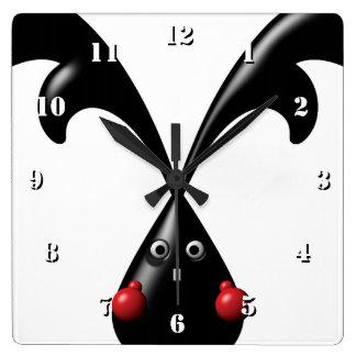 TOUGH BUNNY Cute Boxer Rabbit Wall Clocks
