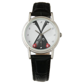 TOUGH BUNNY White Custom Letters For Numbers Wristwatch