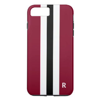 Tough Burgundy Stripe iphone 7 Plus Case for Men