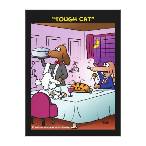"""Tough Cat"" Gallery Wrapped Canvas"