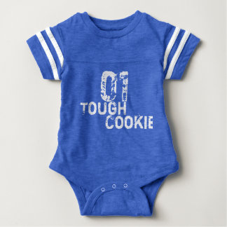 Tough Cookie Funny/Get Well Baby Boy football Baby Bodysuit