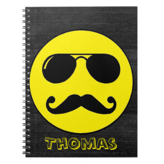 Tough Cop Smiley - Customizable! Note Books