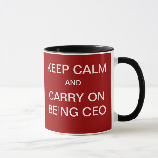 Tough Decisions Funny CEO Quote Keep Calm Joke Mug