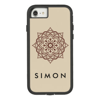 Tough eXtreme Brown Damask pattern iPhone case