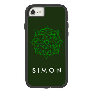 Tough eXtreme Emerald Damask pattern iPhone case