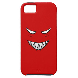 Tough Grinning Face With Evil Eyes Red iPhone 5 Cases