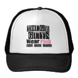 Tough Guys Wear Pink For The Cure Trucker Hats