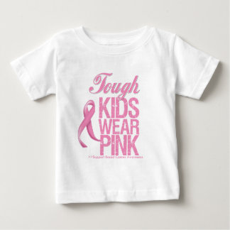 Tough Kids Wear Pink Cool Breast Cancer T-shirts