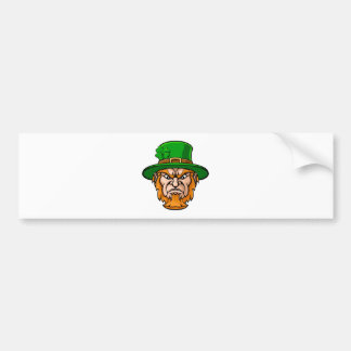 Tough Leprechaun Macot Bumper Sticker