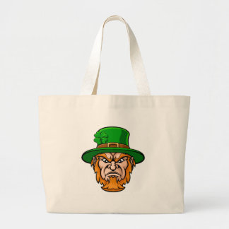 Tough Leprechaun Macot Large Tote Bag
