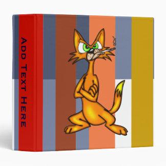 Tough Little Cartoon Cat Avery Binder