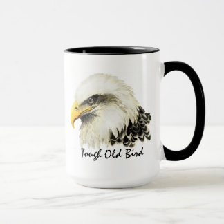 Tough Old Bird Bald Eagle USA Military Quote Mug