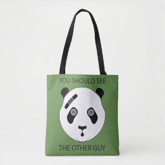 Tough Panda Tote Bag