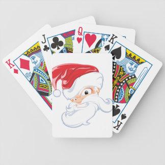 Tough Santa Bicycle Playing Cards