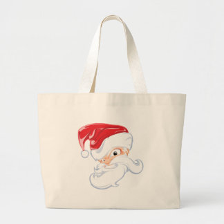 Tough Santa Large Tote Bag