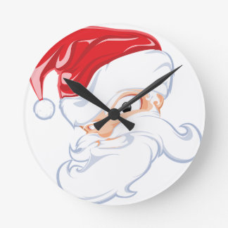 Tough Santa Round Clock