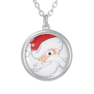Tough Santa Silver Plated Necklace