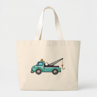 Tough Tow Truck Large Tote Bag