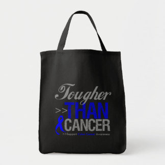 Tougher Than Cancer - Colon Cancer Grocery Tote Bag