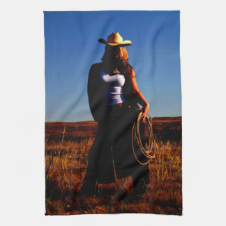 Tougher Than Nails Cowgirl Kitchen Towel