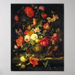 Toujours la vie florale vintage élégante ; Mignon  Poster