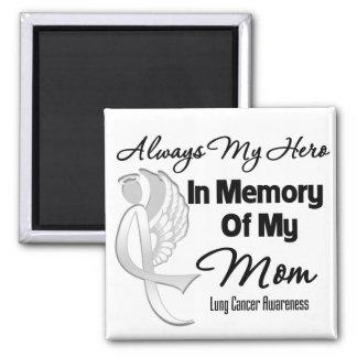 Toujours mon héros dans la maman de mémoire - magnet carré