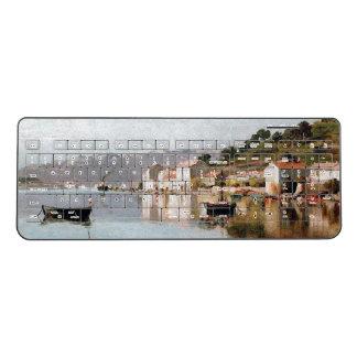 Toulon France Boats Coast Town Wireless Keyboard