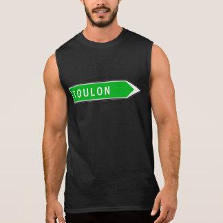 Toulon, Road Sign, France Sleeveless Shirt