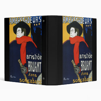 Toulouse-Lautrec Ambassadeurs Aristide Bruant 3 Ring Binders
