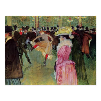 Toulouse-Lautrec, At the Rouge, The Dance Postcard