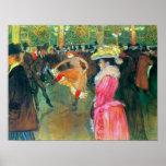 Toulouse-Lautrec - boule dans le fard à joues Poster