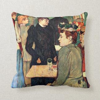 Toulouse-Lautrec - Corner in Moulin de la Galette Throw Pillow