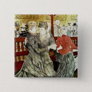 Toulouse-Lautrec - Dancing at Rouge 2 Inch Square Button