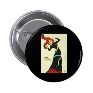 Toulouse-Lautrec Jane Avril 2 Inch Round Button