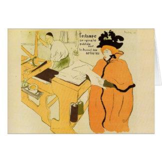 Toulouse-Lautrec - Jane Avril checking a print sam Card