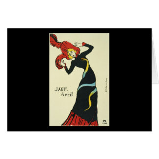 Toulouse-Lautrec Jane Avril Greeting Card