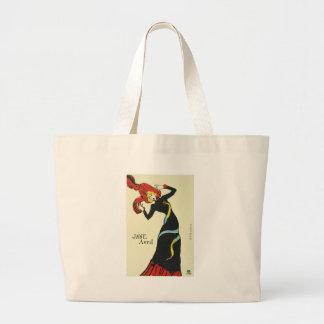 Toulouse-Lautrec Jane Avril Large Tote Bag