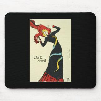 Toulouse-Lautrec Jane Avril Mouse Pad