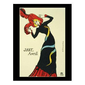 Toulouse-Lautrec Jane Avril Postcard