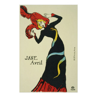 Toulouse-Lautrec Jane Avril Posters